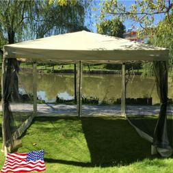 10'x10' Pop Up Outdoor Gazebo Canopy Party Tent Mesh Mosquit