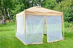 10'X10' PopUp Gazebo Canopy Tent with Mosquito Net for Outdo