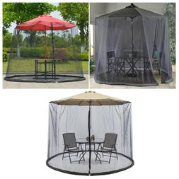 10FT Umbrella Table Screen Cover Mosquito Bug Insect Net Gar