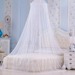 1X Elegant Round Lace Insect Bed Canopy Netting Curtain Dome