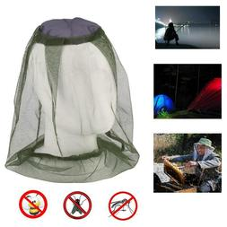 2 Mesh Insect Protector Bug Net Camping Head Mosquito Hat Fa
