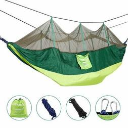 2 Person Hanging Hammock Tent Swing Bed With Mosquito Net Ou