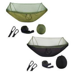 2x Lighweight Hammock Swing Bed with Mosquito Net for Patio