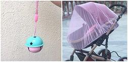 """Baby Mosquito Insect Netting For Stroller, 59""""x47"""" with Blue"""