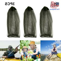 3 Insect Mesh Mosquito Head Face Net Midge Bee Camping Fishi