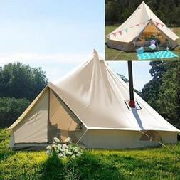 3M Waterproof Canvas Bell Tent Glamping Hunting Camping Tent