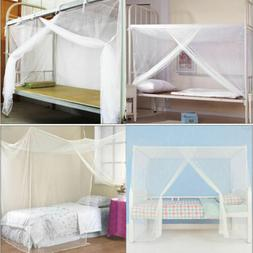4 Corner Bed Canopy Mosquito Fly Net Full Queen Small King S