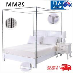 4 Corner Bed Canopy Stainless Steel Frame Post Bracket Mosqu