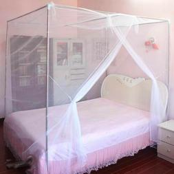 4 Corner Cover Bed Canopy Mosquito Net Queen King Twin Size