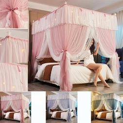 4 Corner lace Double Net Bed Netting Canopy Mosquito Pricene