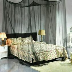 4 Corner Mosquito Net Post Bed Canopy Curtain for Large Quee