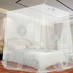 4 Corner Post Bed Canopy Full Queen/King Size Mosquito Net B