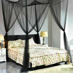 4 Corner Post Bed Canopy Mosquito Bug Net Full Queen King Si