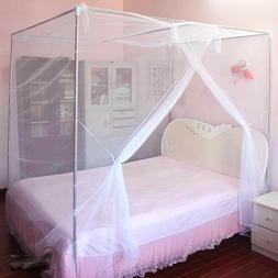 4 Corner Post Bed Canopy Mosquito Net Full Queen Small King