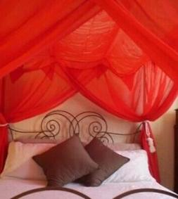 4 Corner Post Bed Canopy Mosquito Net for QUEEN, FULL, KING