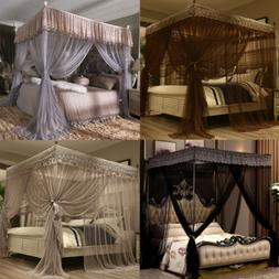 4 Corners Bed Canopy Curtain Mosquito Net Or Frame Post Twin