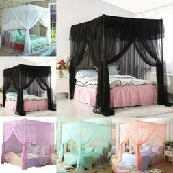 4 Corners Post Canopy Bed Curtain Mosquito Net Or Frame Twin