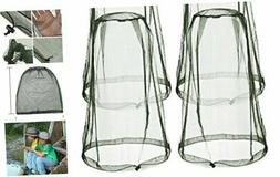 4 Pack Mosquito Head Net Face Mesh Net Head Protecting Net f
