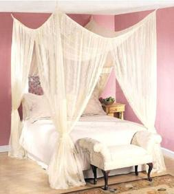 DREAMMA 4 POST BED CANOPY MOSQUITO BUG NET CANAPY BEDROOM CU