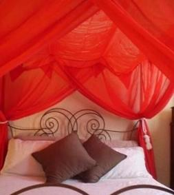OctoRose 4 post functional bed canopy mosquito net fit all s