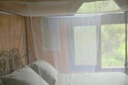 4 poster box mosquito net bed canopy