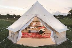 US Shipped 4 Season 5M/16.4FT Cotton Canvas Bell Tent with Z