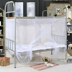 4ft 4 Corner Full Cover Bed Canopy Mosquito Net Twin Size Ne