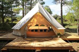 4M Canvas Camping Bell Tent Hunting Glamping Family Yurt Can