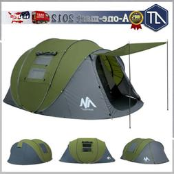 6 Person Large Pop Up Camping Tent Family Hiking Instant Ten