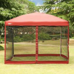 VIVOHOME 8'x8'/10'x10' Outdoor Pop Up Canopy Gazebo Tent Mes