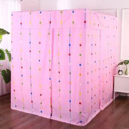 Adult Kids Pink Four Corner Post Bed Light Shading Curtain C