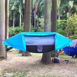 Backpacking Travel Tent Bed Camping Hammock with Mosquito Ne