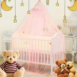 Bed Canopy Mosquito Net For Kids Baby Crib Princess Round Ha