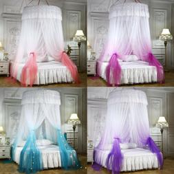 Bed Canopy Romantic Round Dome Mosquito Net King Queen Full