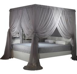 Bed Curtain Canopy Mosquito Netting Post Bedding Insect Net
