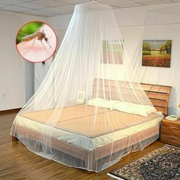 Bed Mosquito Netting Mesh Elegant Princess Round Dome Beddin