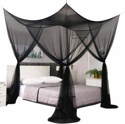 Black Elegant Mosquito Net Curtain Bed Canopy for Single Twi