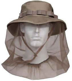 Booniehat With Mosquito Insect Netting Khaki Jungle Sun Boon