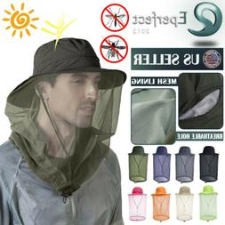 Bucket Hat with Mosquito Head Net Sun Boonie Hunting Fishing