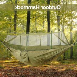 Camping Double Hammock with Mosquito Net Nylon Tent Swing Ch