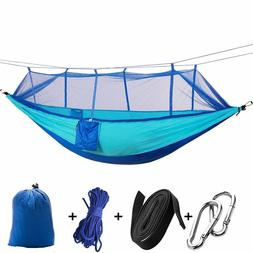 2 Person Camping Double Hammock with Mosquito Net Tent Hangi