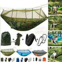 Camping Double Hammock with Mosquito Net Tent Hanging Swing