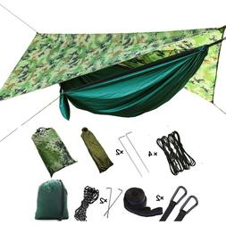 Camping Hammock Tent with Mosquito Net and Rain Fly for Outd