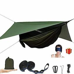 camping hammock with mosquito net and rain