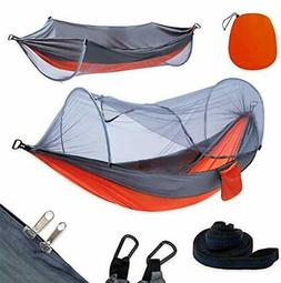 Camping Hammock with Mosquito Net & Tree Straps Lightweight