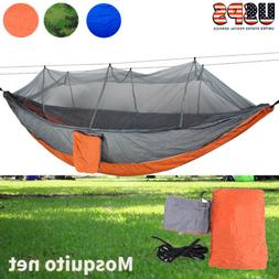 Camping Hammock with Mosquito Net Outdoor Travel Nylon Swing