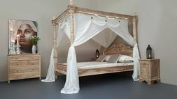 CANOPY DELUXE Muslin Mosquito Net for Four Poster Bed King,Q