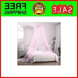 Canopy Lace Mosquito Net for Girls Bed, Princess Play Tent R