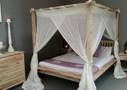 CANOPY RUMPLE Muslin Mosquito Net for Balinese Four Poster B