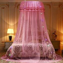 canopy solid mosquito net princess bed lace
